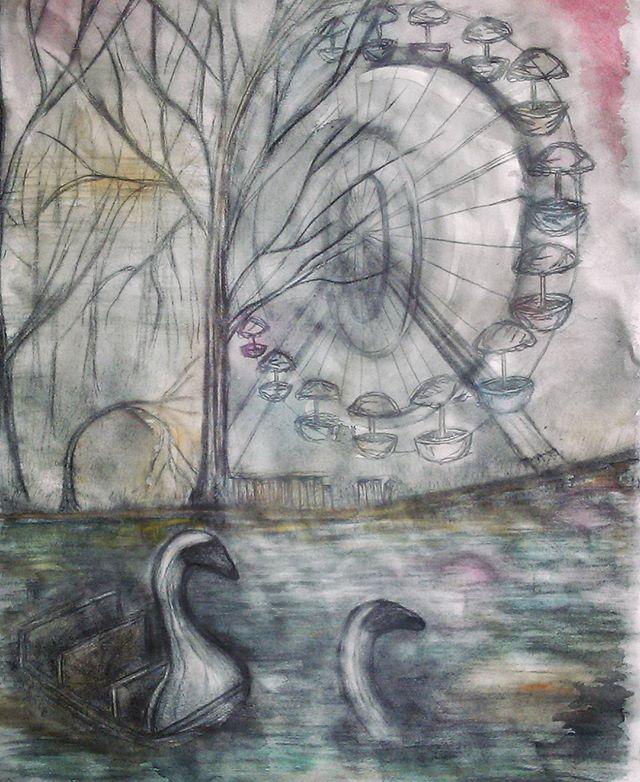 Sketch of swan boat