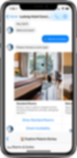 Iphone chatbot hotel concierge