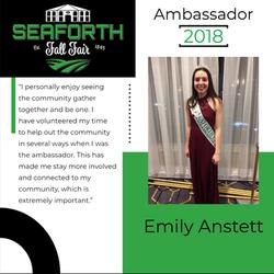 2018 Emily Anstett Ambassador