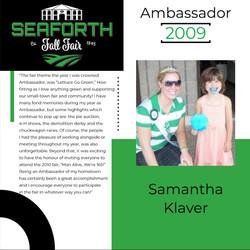 2009 Samantha Klaver Ambassador