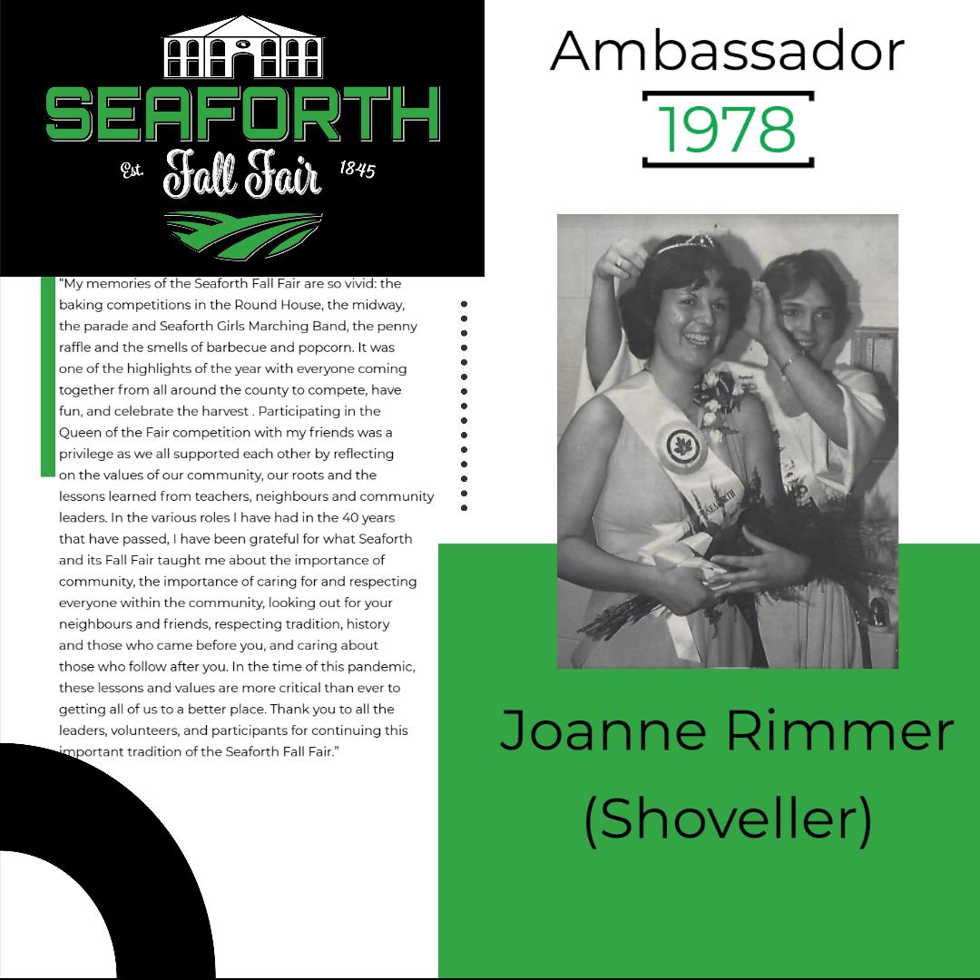 1978 Joanne Rimmer (Shoveller) Ambassado