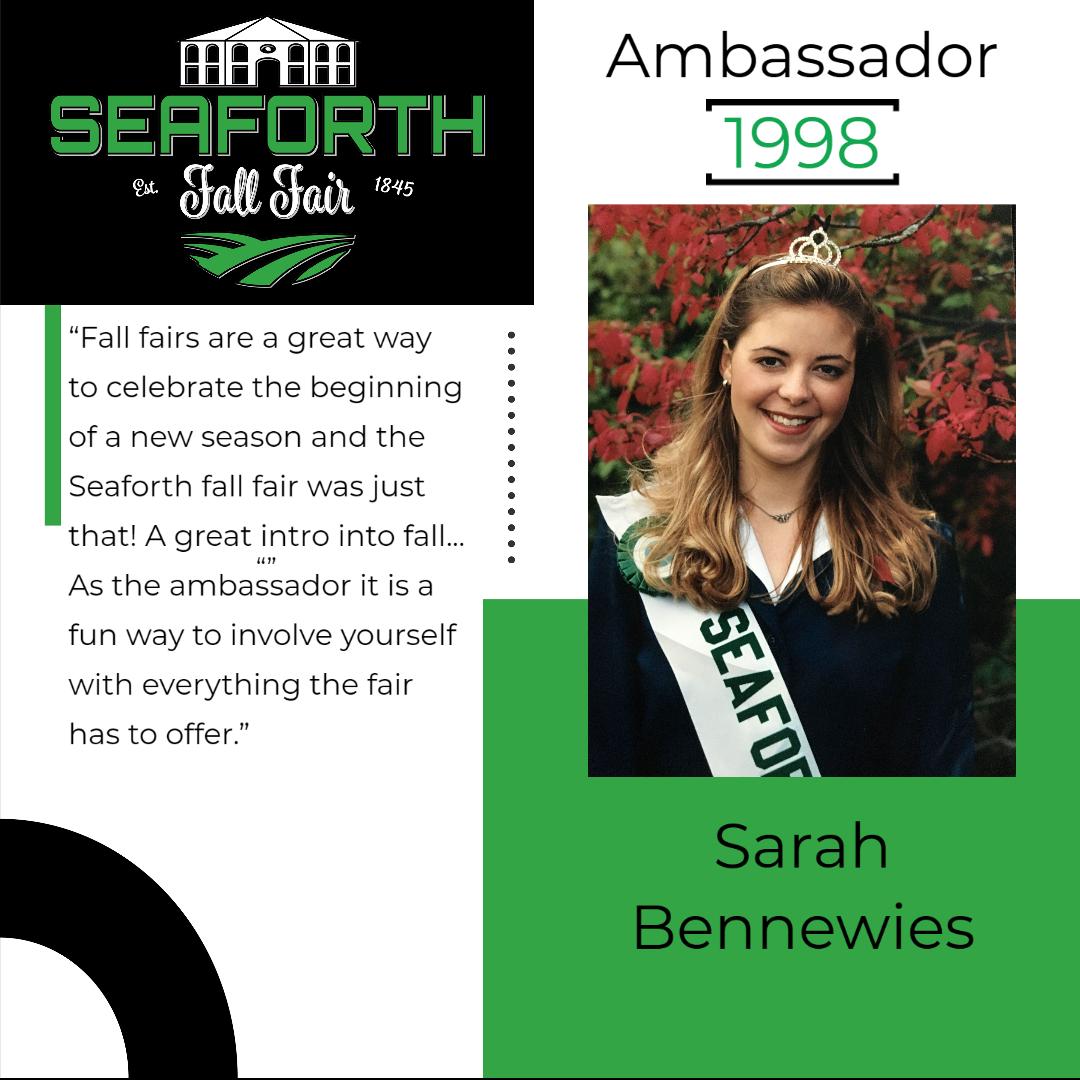 1998 Sarah Bennewies Ambassador