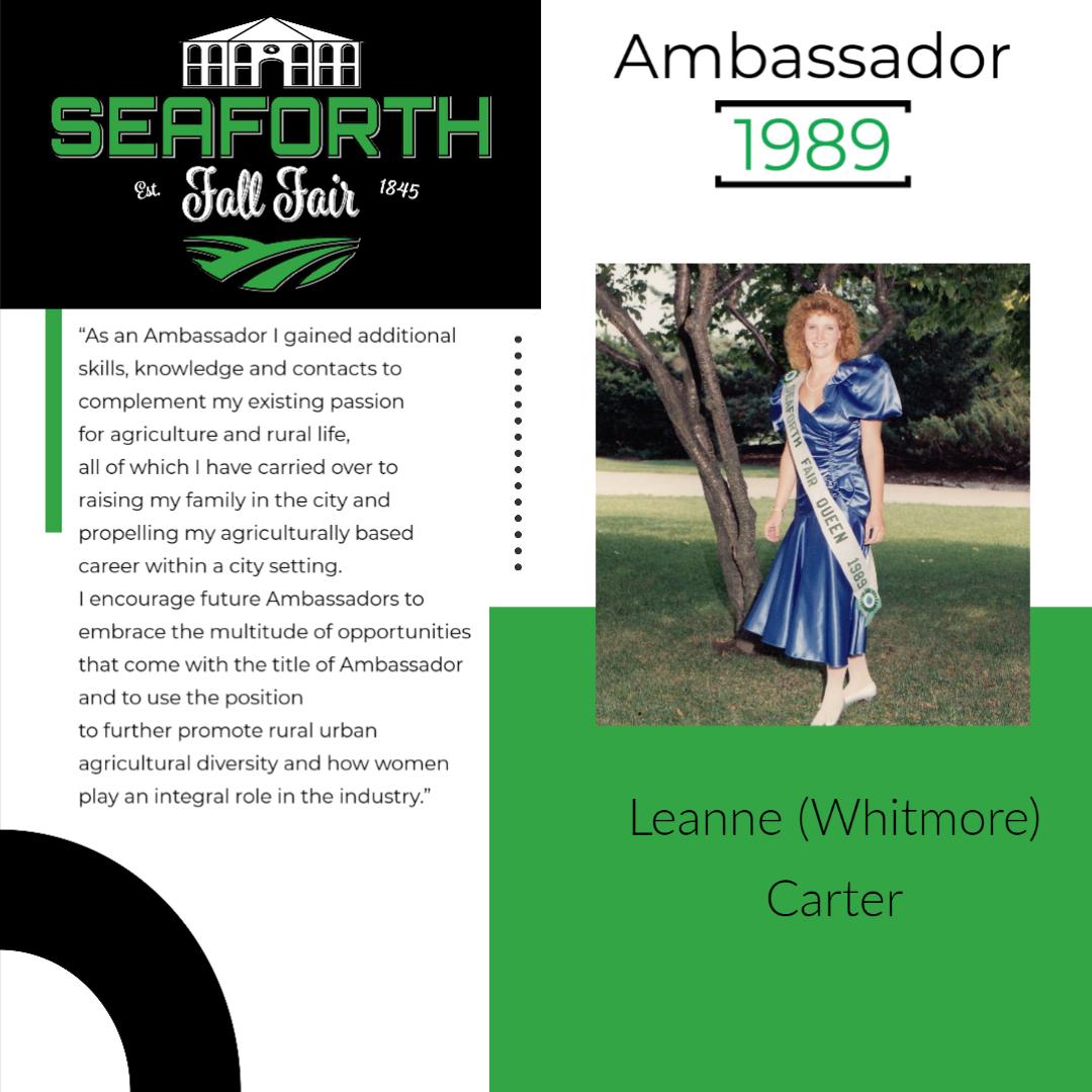1989 Leanne Carter Ambassador