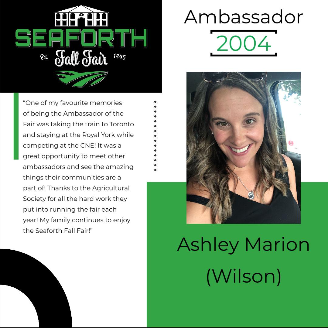 2004 Ashley Marion (Wilson) Ambassador