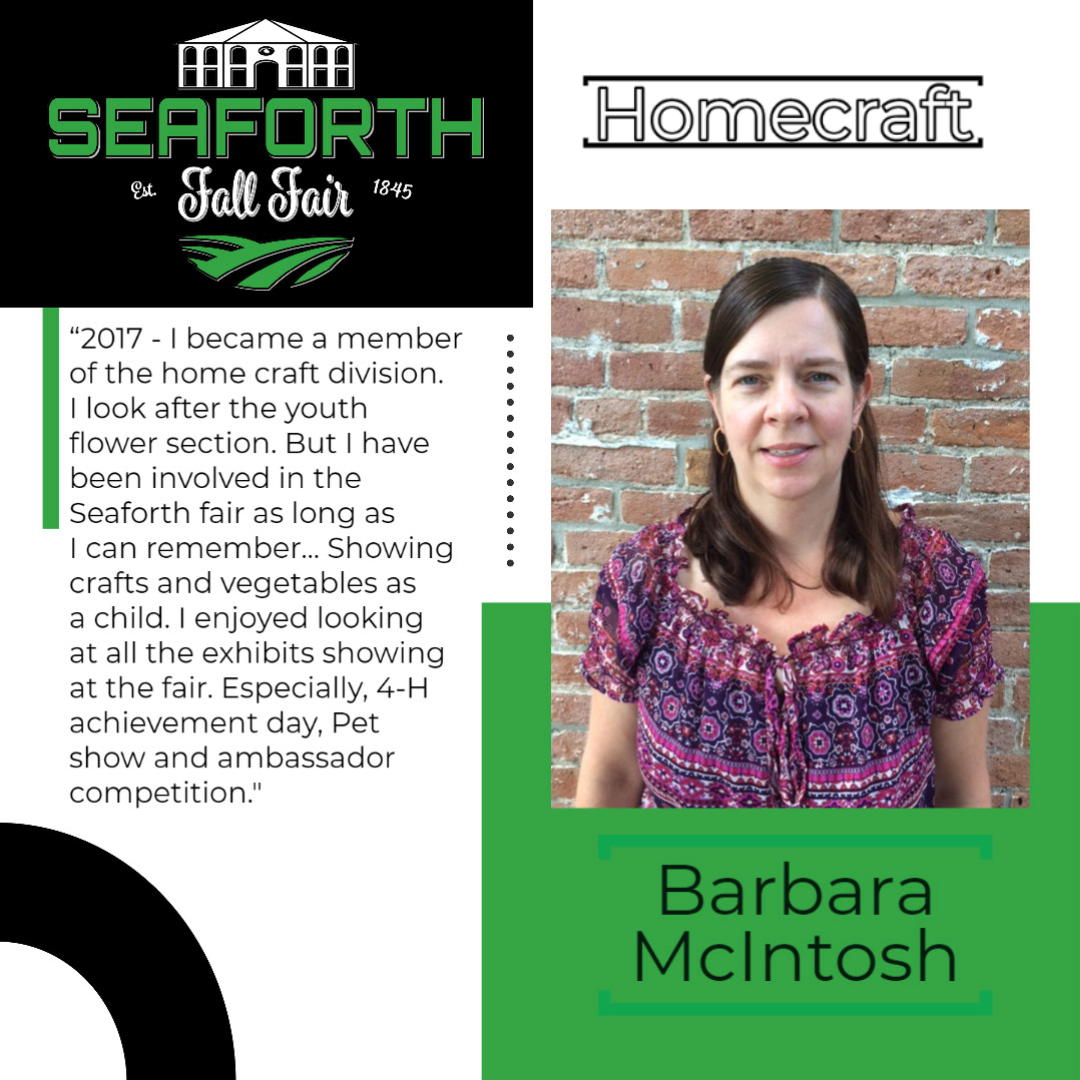 Barbara McIntosh Homecraft post