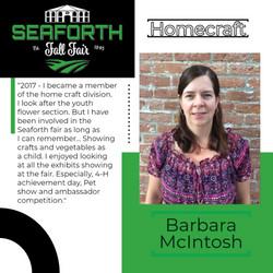 Barbara McIntosh Homecraft post