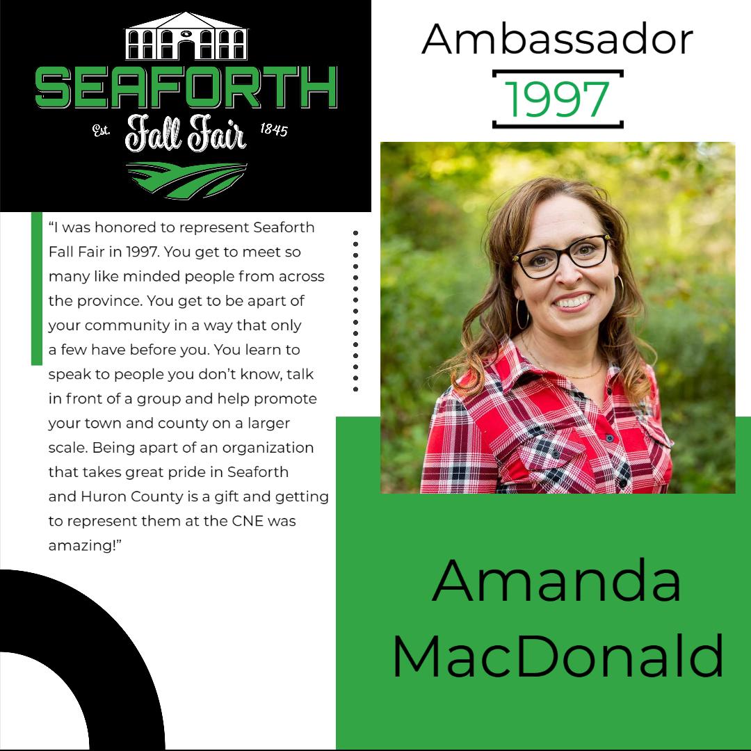 1997 Amanda MacDonald Ambassador