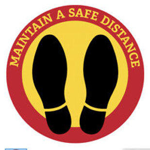 FOOTPRINTS SOCIAL DISTANCE SAFE - STOP VIRUS