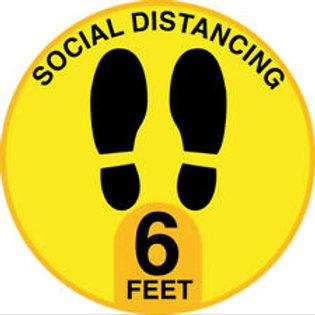 STOP VIRUS 6ft APART - FOOTPRINTS SOCIAL DISTANCE SAFE
