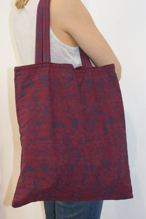 Tote bag big purple