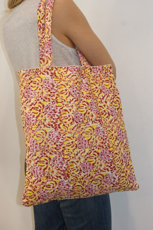 Tote bag big Yellow/pink