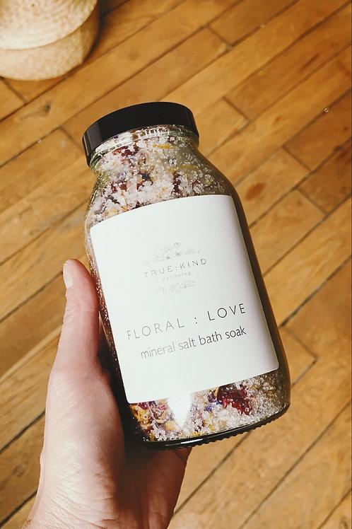 Sels de bains aux fleurs et huiles essentielles