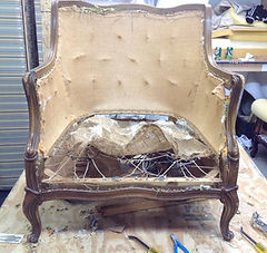 antique chair to be rebuilt as the client request
