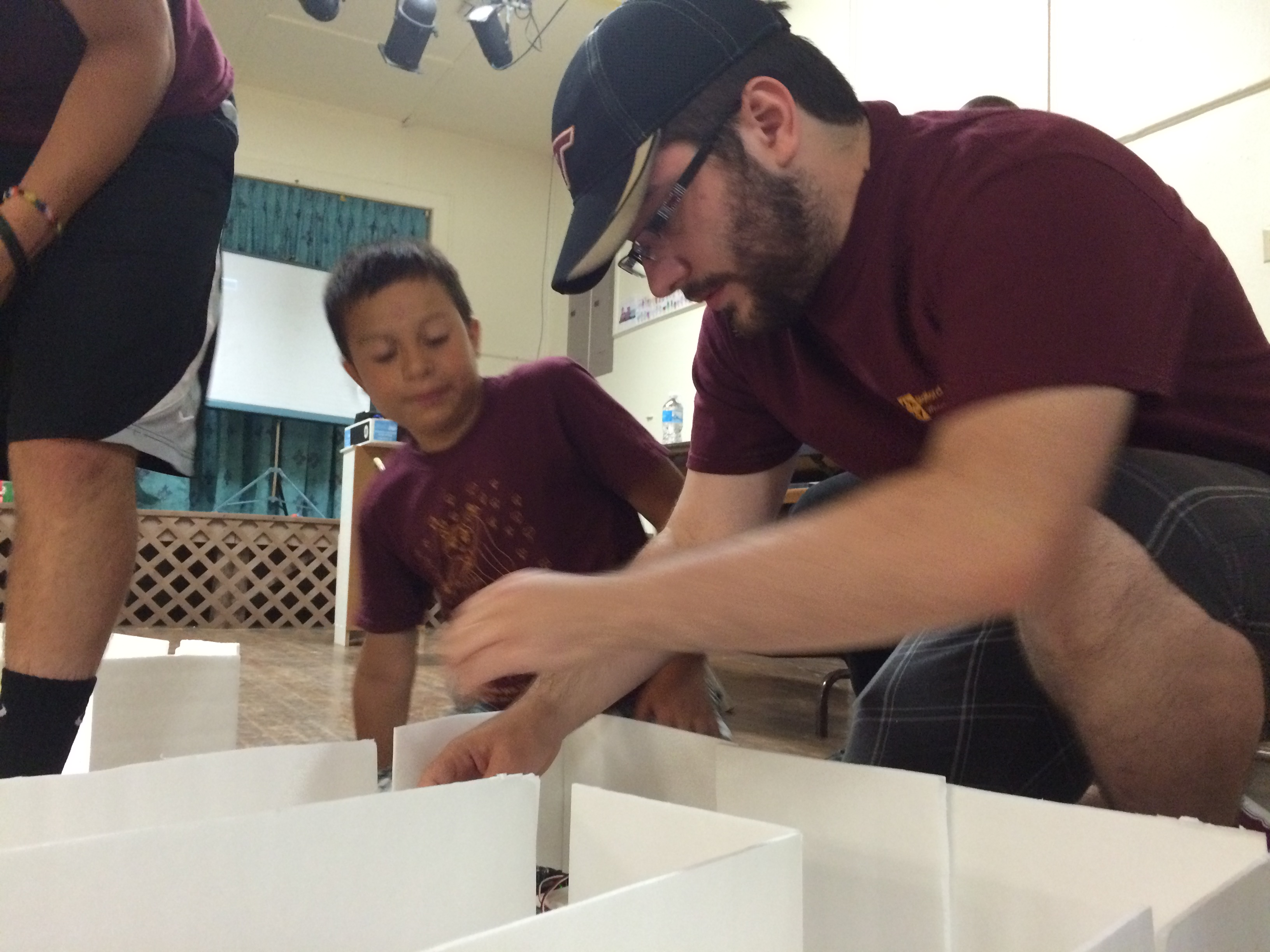 Volunteers use Math in Projects