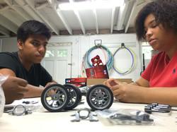 Teamwork in building a Car