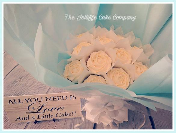 12 Cup Vanilla Cupcake Bouquet