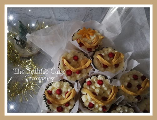Cupcake Christmas tree close up
