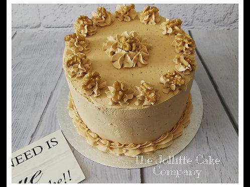 Coffee & Walnut Dessert Layer Cake
