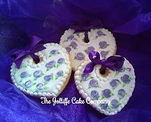 heart purple Rose biscuit