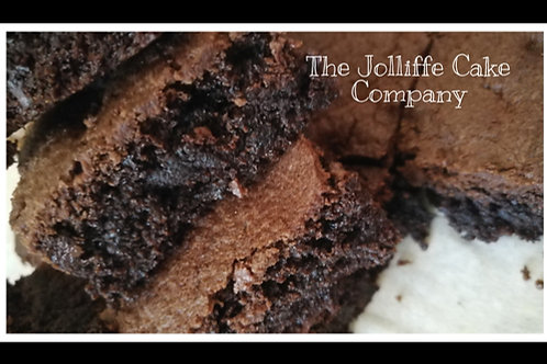 Chocolate Brownies with Cranberry-Letterbox Bake