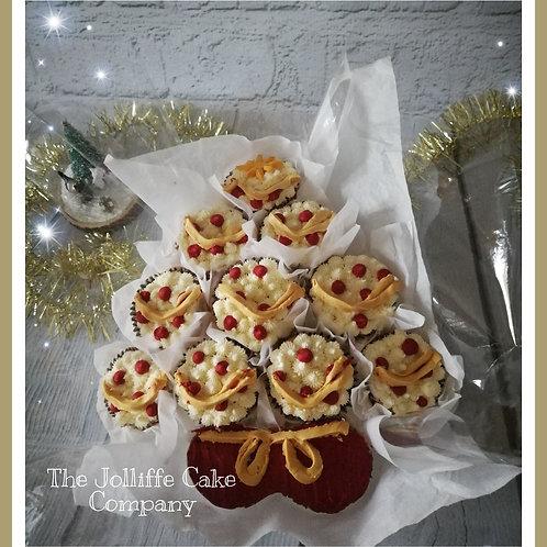 Christmas Tree Cupcake Bouquet