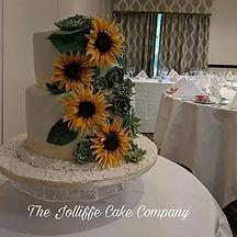 Sunflower  & Succulents Wedding Cakes