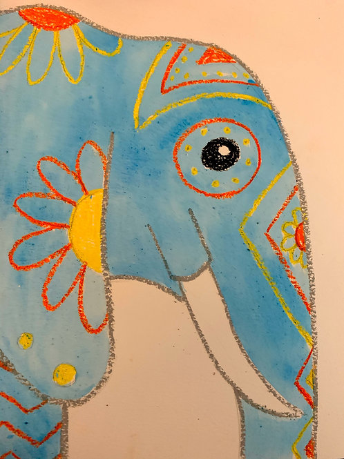 DIGITAL DOWNLOAD ELEPHANT DRAWING INSTRUCTIONS- for K-5th Grade