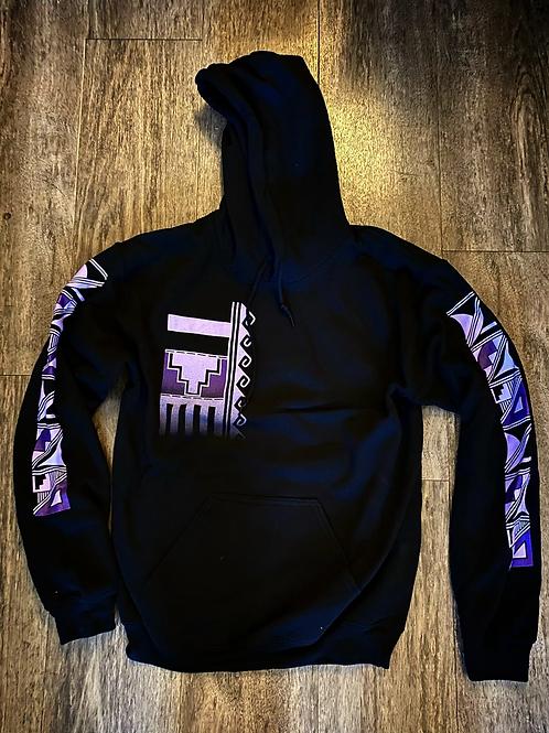 Purple Pottery Design Hoodie
