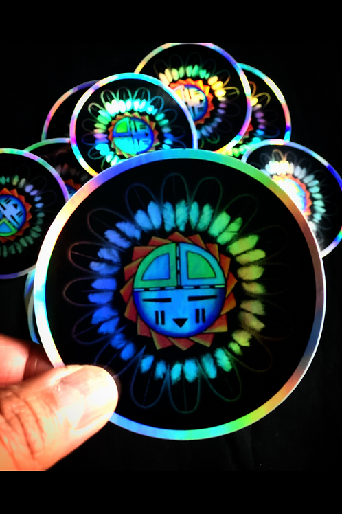 Holographic Sun Sticker
