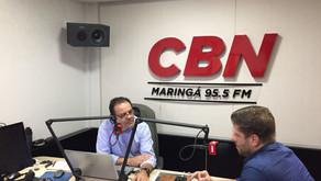 Greve dos caminhoneiros, política, alianças partidárias e outros assuntos na pauta da CBN Maringá. A