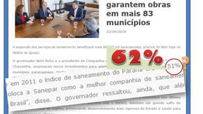 Antes de sair de cena, Governo Beto Richa aposta em números equivocados para manchetes de campanha.