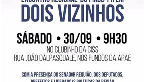 PMDB do Paraná se reúne sábado (30) no Sudoeste para debater novo projeto para o Estado