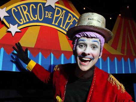 O Fantástico Circo de Papel está em turnê pelo Paraná no mês de outubro