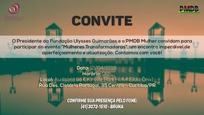 Evento 'Mulheres Transformadoras' será no dia 12 de abril, em Curitiba