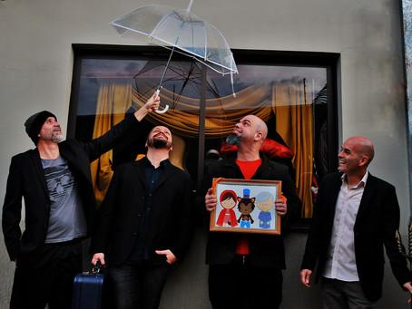 Troy Rossilho, Leo Barros, Mauro Castilhos e Thiago Menegassi juntos formam Troy e os Calvos. Show é