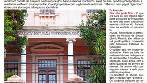 Falta de estrutura prejudica ensino do Instituto de Educação do Paraná
