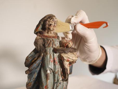 Projeto curitibano fomenta a conservação de esculturas sacras