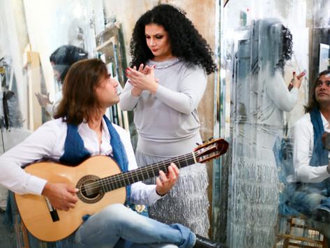 Miri Galeano e Jony Gonçalves convidam o público para mergulhar no processo criativo da arte flamenc