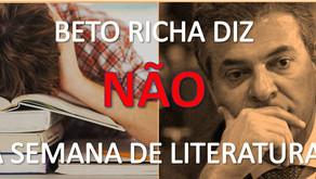 Contra a Cultura ou perseguição política? Beto Richa veta Semana da Literatura Paranaense