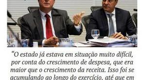 """""""Até o Secretário da Fazenda admite que Beto Richa quebrou o Paraná"""""""
