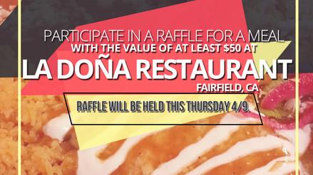 Participate in a raffle for La Dona! Includes delivery!