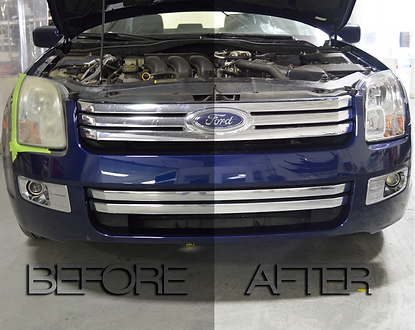 Headlight Restoration in Fairfield.