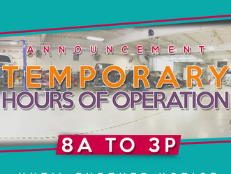 Temporary hours of operation