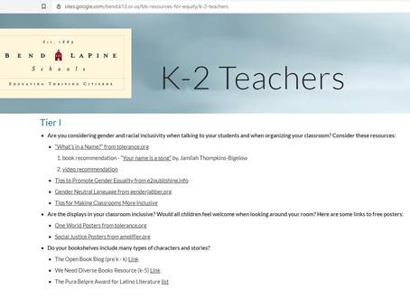 What Politics In The Classroom? Bend-La Pine Schools K-2
