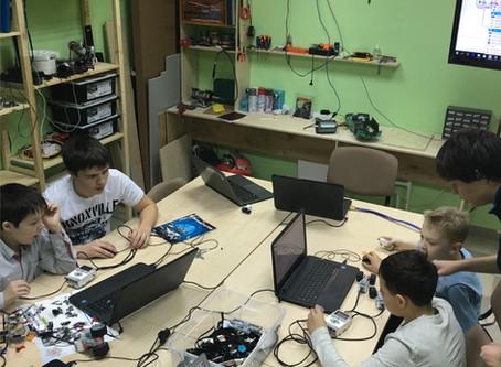 Занятия робототехники EV3