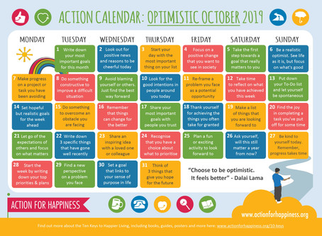 Optimistic October Calendar