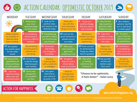 Optimistic October Calendar