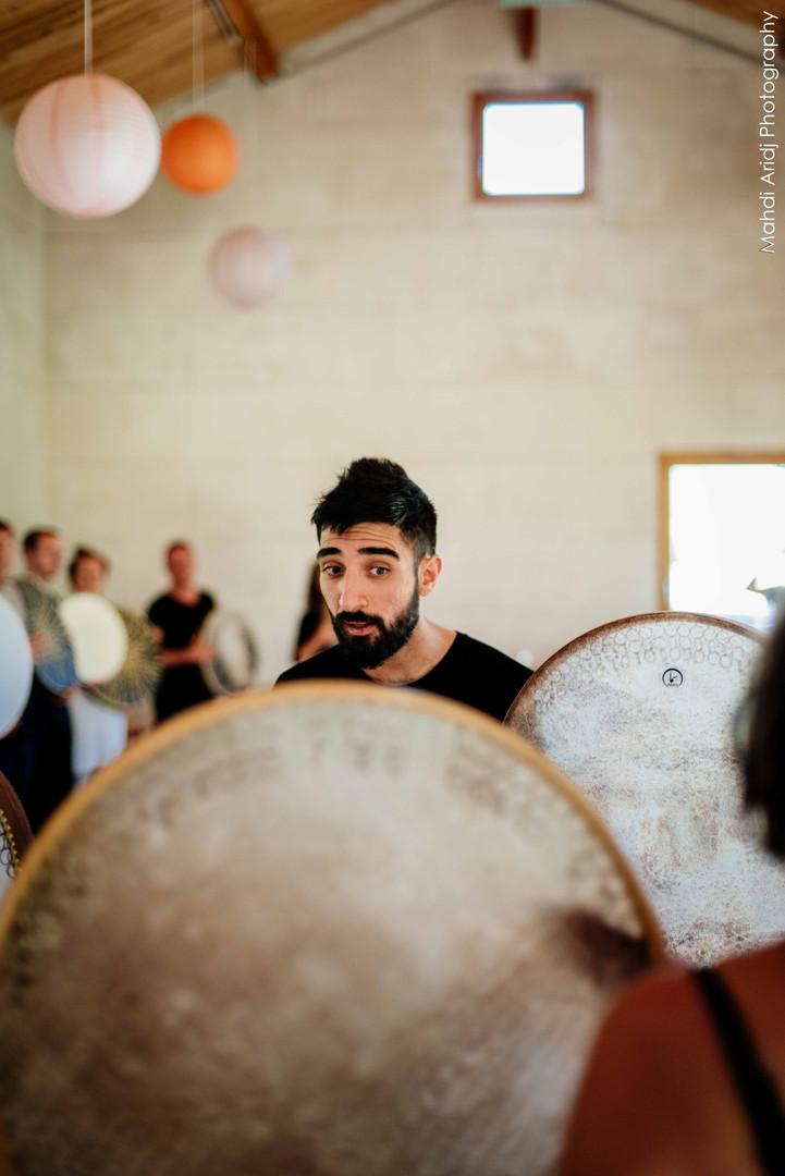 Daf workshop, Lyon, Rana Gorgani