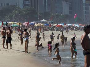 Primeiro fim de semana do inverno no Rio tem praias cheias - SUPER TOP FM 89.3