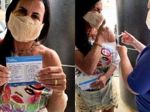 'Totalmente imunizada': Gretchen recebe segunda dose da vacina contra a covid-19 - SUPER TOP FM 89.9
